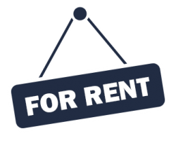 absentee for rent sign icon